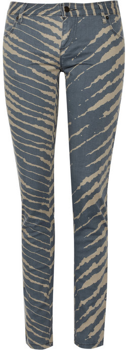 Sass & bide Boogie & The Historymaker printed mid-rise skinny jeans