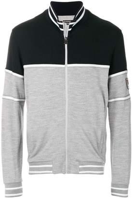 Z Zegna two tone zipped sweater