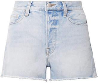 Frame Rigid Re-release Le Original Distressed Denim Shorts - Light denim