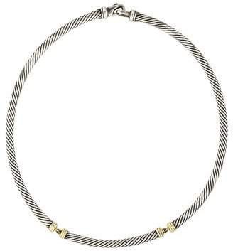 David Yurman Metro Cable Collar Necklace