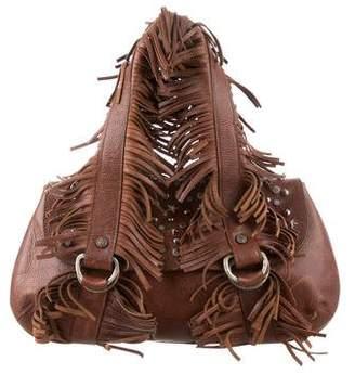 Galliano Fringe & Stud-Embellished Shoulder Bag