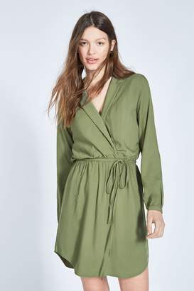 3e844a1449d Next Womens Jack Wills Khaki Hedley Wrap Shirt Dress