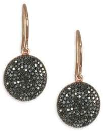 Astley Clarke The Icon Black Diamond& 14K Yellow Gold Post Earrings