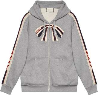 Gucci stripe zip up sweatshirt