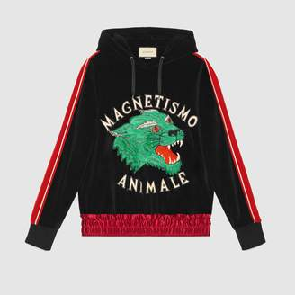 "Gucci ""Magnetismo Animale"" chenille sweatshirt"