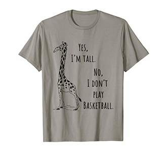 Funny tall person t-shirt with Giraffe