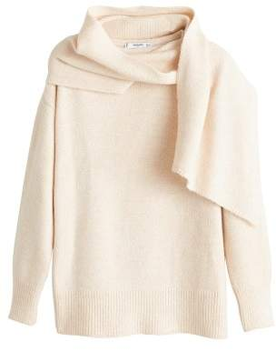 MANGO Scarf neck sweater
