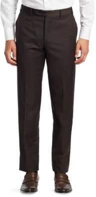 Canali Wool Twill Dress Pants