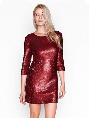 Girls On Film Sequin Bodycon Mini Dress - Matt Red