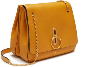 Mulberry Marloes Satchel Deep Amber Small Classic Grain