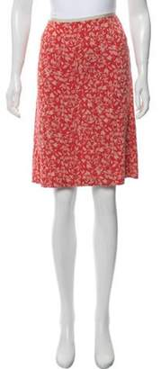 Diane von Furstenberg Silk Knee-Length Skirt Red Silk Knee-Length Skirt