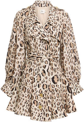 Loren Aje Ruffled Cape Dress