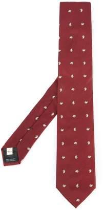 Kent & Curwen embroidered tie