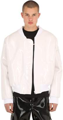 Heirs Oversized Vinyl Bomber Jacket