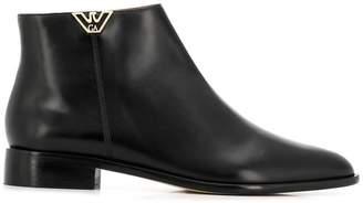 Emporio Armani logo plaque ankle boots