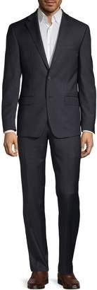 Calvin Klein Extra-Slim Plaid Wool-Blend Suit
