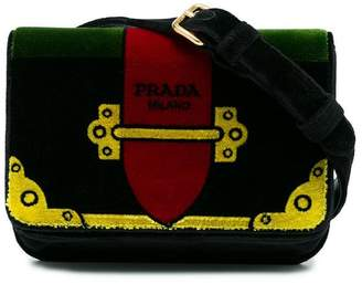 Prada multicoloured trompe-l'œil Small Velvet belt bag