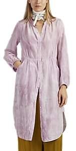 Raquel Allegra Women's Tie-Dyed Cotton-Silk Shirtdress