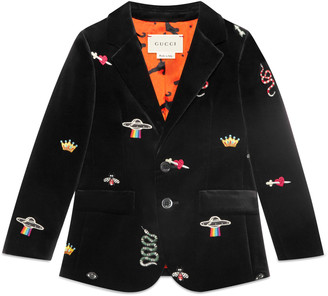 Baby velvet jacket with embroidery details $1,190 thestylecure.com