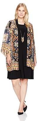 Tiana B Women's Paisley Printed Jacket Dress