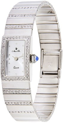 Arte D'oro Arte d'Oro Women's 1/3 cttw Diamond RectangularCase Watch,18K