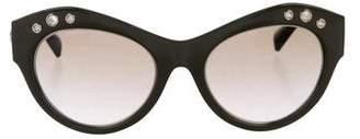 Versace Cat-Eye Polarized Sunglasses