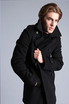 Simon Spurr Black Cashmere Peacoat