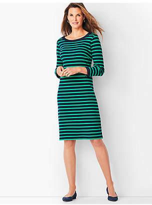 Talbots Stripe Cotton Shift Dress