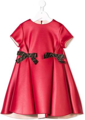 Fendi bow detailed dress