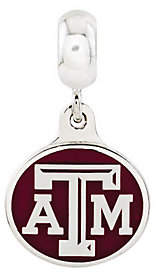 Collegiate Bead Company Sterling Silver Texas A & M University Dangle B ead