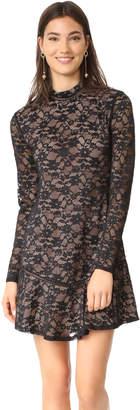 WAYF Julie Mock Neck Lace Dress $108 thestylecure.com