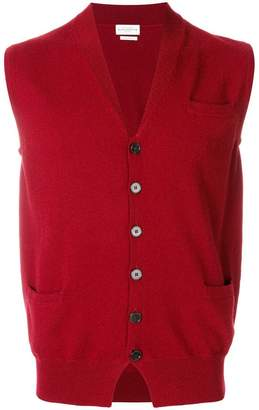 Ballantyne V-neck knitted gilet