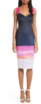 Women's Ted Baker London Jahner Marina Mosaic Body-Con Dress $295 thestylecure.com