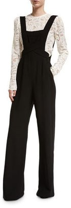 A.L.C. Harlow Crepe Overall Jumpsuit, Black $695 thestylecure.com