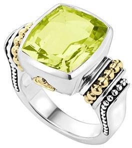 Women's Lagos 'Caviar Color' Medium Semiprecious Stone Ring $995 thestylecure.com