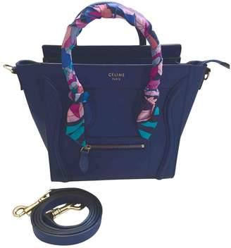 bd29f957f8 Celine Nano Luggage Blue Leather Handbag