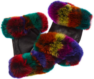 Adrienne Landau Leather Gloves