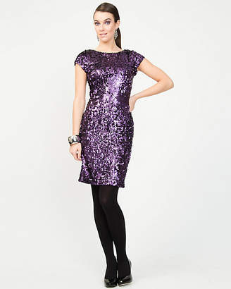 Le Château All-over Sequin Cocktail Dress