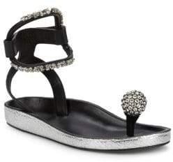 Etoile Isabel Marant Ecly Embellished Leather Sandals