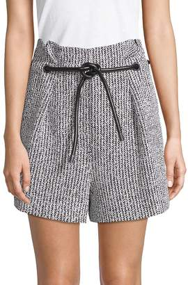 3.1 Phillip Lim Women's Two-Piece Origami Pleated Shorts and Belt