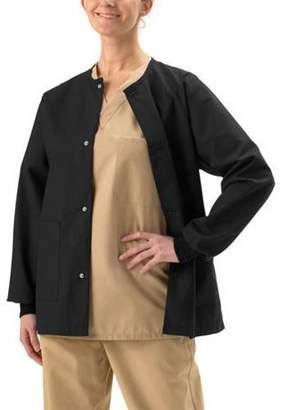 Medline Unisex ComfortEase Snap-Front Warm-Up Scrub Jacket