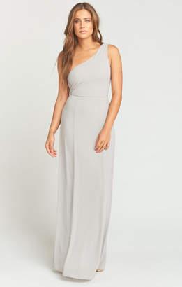 Show Me Your Mumu Eliza One Shoulder Dress ~ Dove Grey Chiffon