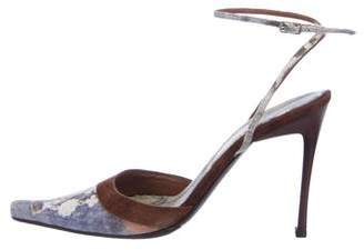 Casadei Printed Pointed-Toe Pumps
