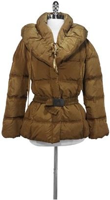 Moncler Bronze Down Filled Winter Coat $1,100 thestylecure.com