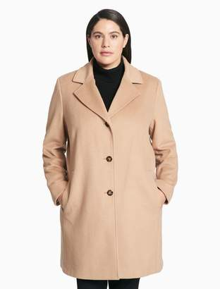 Calvin Klein plus size wool cashmere blend overcoat