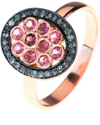 Latelita - Diamond Pink Tourmaline Oval Ring