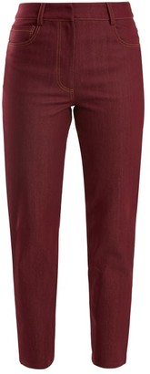 Isa Arfen High Rise Slim Leg Jeans - Womens - Burgundy