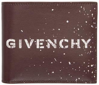 Givenchy Burgundy Graffiti 8CC Wallet