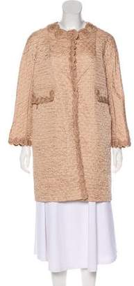 Ermanno Scervino Textured Knee-Length Coat
