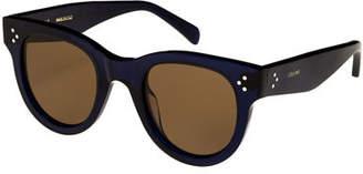 Celine Studded Round Acetate Sunglasses